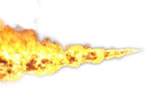 Flame Thrower Flame PSD