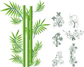 Stock Illustrations bamboo and ornaments