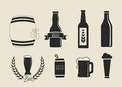 Free Vector Beer Icons Set