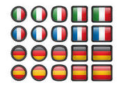 European Flag Icons