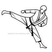 KARATE KICK VECTOR GRAPHICS.eps