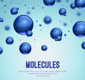 Blue molecular background