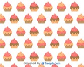 Cupcakes Vector Background Design