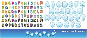 Cute letters of the alphabet