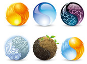 Vector Graphics Elements Of Nature