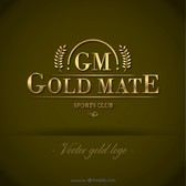 Gold free vector logo template