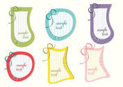 Lined Retro Label Tags