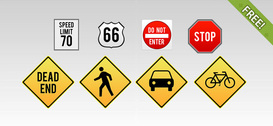8 Traffic Sign Icons