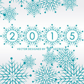 Christmas Snowflakes with New Year Letters