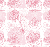 Hand painted rose seamless background