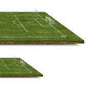 3D Football/Soccer Pitch with Grass PSD