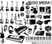 Go Media Produced Vector Graphic (Set8) - Musical Instruments