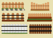 Wooden Picket Fence Vectors