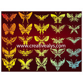 BUTTERFLIES VECTOR SET.eps