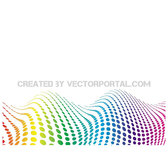 WAVY DOTS VECTOR BACKGROUND 10.eps