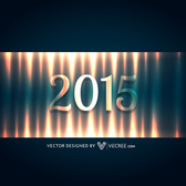 Lightening Effect 2015 Typography New Year Background