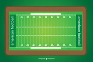 Vector american football field
