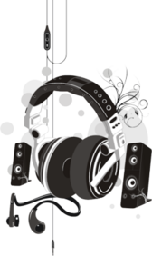 (Headphones & Speakers Vector)