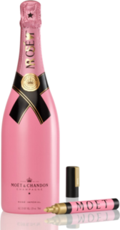 Pink Moet Champagne PSD
