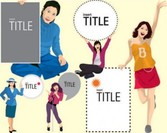 Stock Illustrations Insert-title-girl