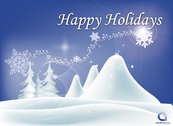 Christmas Background with Snowy Landscape
