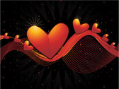 Heart-Shaped Vector Graphic -2 Dynamic Lines Of The Backgro