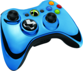 Blue Chrome XBOX 360 Controller PSD