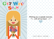 Get Well Soon Card Vector Free