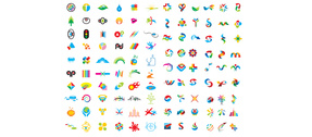 100 Vector Shapes & Logotypes Pack