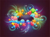 Badge With Abstract Background 5