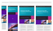 Responsive Free PSD Template