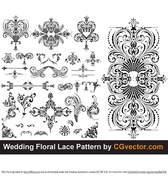 Wedding Floral Lace Pattern