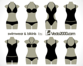 Illustration of Swimwear and Bikinis Free Vector Templates