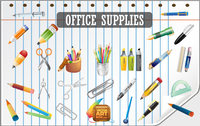 Free Vector Office Supplies Icon Set