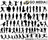 Go Media Produced Vector Graphic (Set8) - Various Characters In Pictures