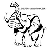 LITTLE ELEPHANT VECTOR GRAPHICS.eps