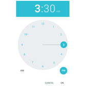 Android Lollipop 5 Time Picker