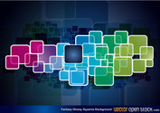 Fantasy Glossy Square Vector Background Image Free