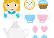 Alice In Wonderland Vector Items