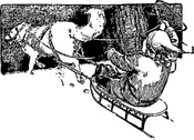 Wolf Pulling Sled