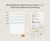 A simple Contact Page