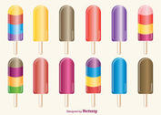 Ice Cream Pops Vectors