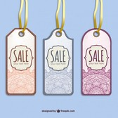 Retro sale tags vector set