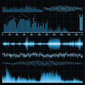 Audio Band Material 03- Vector Material Audio Sound Waves Frequency