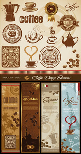 {coffee And Totem } Vector Vector Material Coffee Coffee Machine
