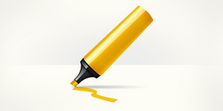 Marker pen highlighter icon (PSD)