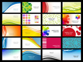 Variety Of Dynamic Flow Line Business Card Template 02 - Vec