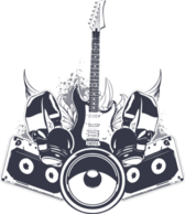 VECTOR music is king! crest / arms PSD