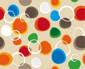 Bubbles Vector Abstract Seamless Background