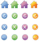 Exquisite Icon Button - Vector Exquisite Icons Return Close